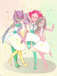 anthro cytorri dress limestone_pie marble_pie maud_pie pinkie_pie siblings