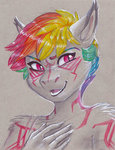 anthro earthsong9405 highres rainbow_dash traditional_art