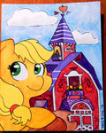 applejack coggler gopherfrog sweet_apple_acres traditional_art