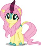 absurdres fluttershy highres kirin orin331 species_swap vector