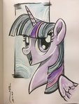 highres princess_twilight sararichard traditional_art twilight_sparkle