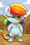 atryl bandage bipedal filly pigtails rainbow_dash
