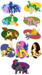 arcanine furret galvantula highres mudkip otakugal15 pokemon ponified princess_luna serperior twilight_sparkle typhlosion