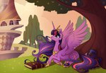 badday28 book highres princess_twilight tree twilight_sparkle