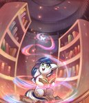 absurdres book highres magic mirroredsea original_character