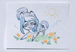 celebi-yoshi flowers original_character traditional_art