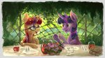 book flowers glass highres jug moondancer plainoasis table twilight_sparkle