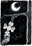 bat_pony flutterbat fluttershy highres moon nighttime sa1ntmax traditional_art tree