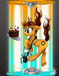 cake candle chell companion_cube ponified portal twotigermoon watermark