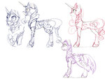 armor princess_cadance princess_luna princess_twilight silfoe twilight_sparkle