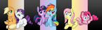 applejack filly fluttershy main_six pinkie_pie rainbow_dash rarity smittyg twilight_sparkle