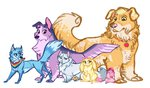 absurdres applejack cat dog earthsong9405 fluttershy fox hamster highres main_six pinkie_pie rabbit rainbow_dash rarity species_swap twilight_sparkle
