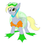 cuddlesandhuggles derpy_hooves flippers floaties mask pool_toy snorkel transparent