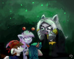 absurdres amy-gamy background_ponies costume highres nightmare_night pipsqueak zecora