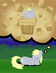 derpy_hooves muffin sleeping unholyhen
