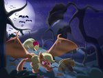 absurdres applejack apples bat highres thediscorded vampire