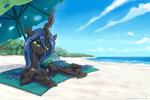 beach kp-shadowsquirrel queen_chrysalis umbrella