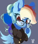 clothes glasses rainbow_dash tohupo