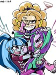 adagio_dazzle aria_blaze bariden equestria_girls fight humanized sonata_dusk the_dazzlings