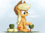 applejack big fence giant_hat hat highres ncmares tree
