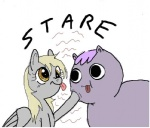 adventure_time artist_unknown crossover derpy_hooves poo_brain_horse