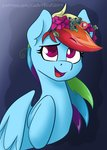 cadetredshirt flowers highres rainbow_dash