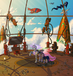 coat dirigible glasses jackjacko-eponymous robot scroll steampunk twilight_sparkle