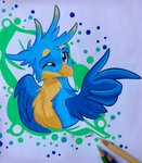 absurdres emberslament gallus highres traditional_art