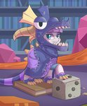 book costume dice dragon game highres maud_pie tikrs007