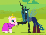 adventure_time ask askflufflepuff fluffle_puff fluffy mixermike622 original_character queen_chrysalis