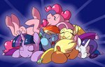 applejack astarothathros fluttershy main_six pinkie_pie rainbow_dash rarity sleeping twilight_sparkle