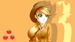 applejack arucardpl highres humanized wallpaper