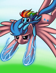 filly firefly g1 generation_leap kloudmutt parents rainbow_dash