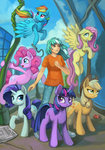 applejack asimos fluttershy humanized lexx2dot0 lyra_heartstrings main_six maytee pinkie_pie rainbow_dash rarity twilight_sparkle