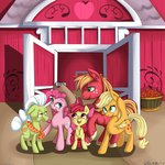 absurdres apple_bloom applejack big_macintosh granny_smith highres pinkie_pie vicse