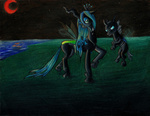 changeling colettethechosen moon queen_chrysalis