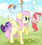 balloon blob fluttershy highres pinkie_pie rainbow_dash tesslashy twilight_sparkle