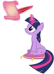 highres magic quill scroll shelltoontv transparent twilight_sparkle vector