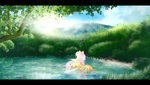 absurdres fluttershy highres ilynalta pool trees water