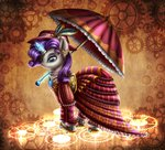 9de-light6 dress feather hat highres magic rarity umbrella