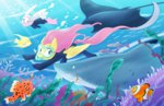angel equestria-prevails fish fluttershy highres shark snorkel swimming underwater