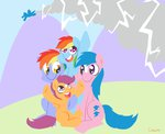 coggler firefly highres parents rainbow_dad rainbow_dash scootaloo