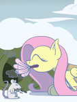 flutterluv fluttershy highres mouse winter_wrap_up