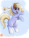 absurdres background_ponies butterfly flowers highres pridark