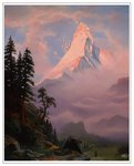 albert_bierstadt border canterlot crappyunicorn parody scenery sunrise_on_the_matterhorn