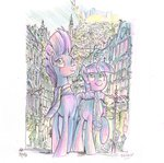 absurdres highres jowybean scarf tempest_shadow traditional_art twilight_sparkle