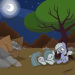 gearholder highres limestone_pie marble_pie rock_farm siblings sleeping wagon