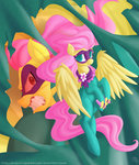 clothes costume falleninthedark fluttershy highres power_ponies saddle_rager