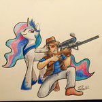 highres princess_celestia rifle sniper team_fortress_2 traditional_art tsitra360