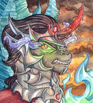 king_sombra portrait the-wizard-of-art traditional_art